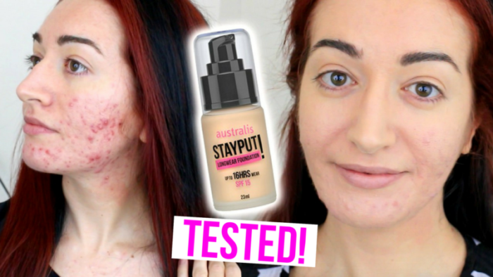 Australis STAYPUT! Long Wear Foundation Test & Review (On Oily Skin!)