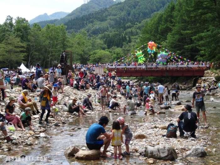 fuji rock festival japan river