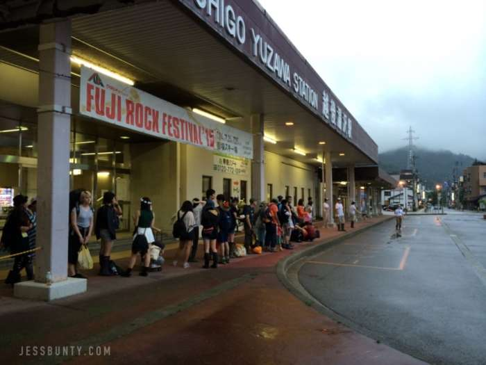 fuji rock festival japan bus stop echigo yuzawa station