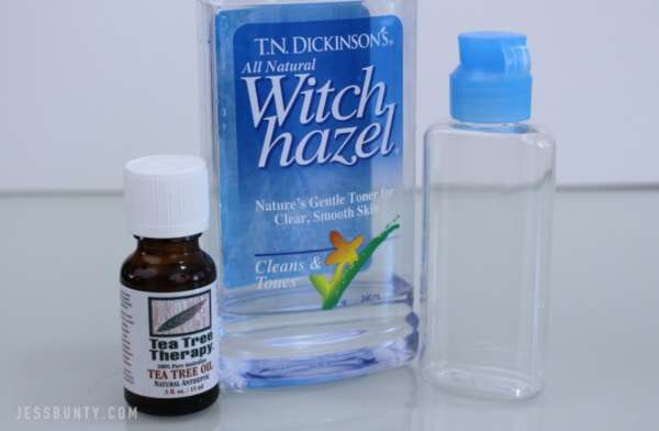 DIY tea tree oil toner for acne