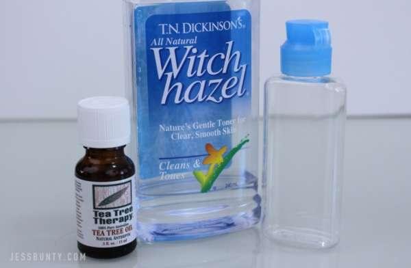 DIY tea tree oil toner for acne