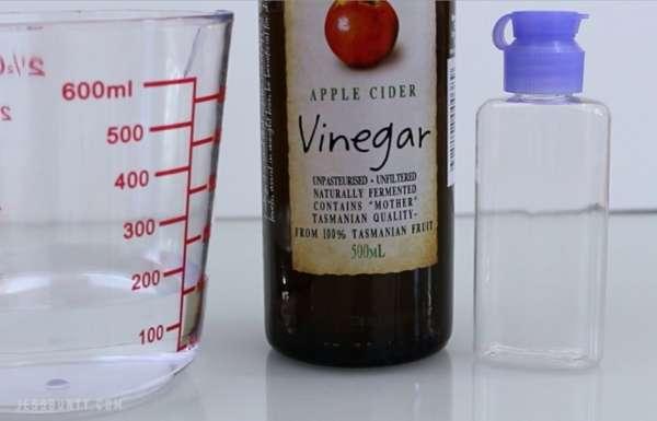 DIY apple cider vinegar toner for acne